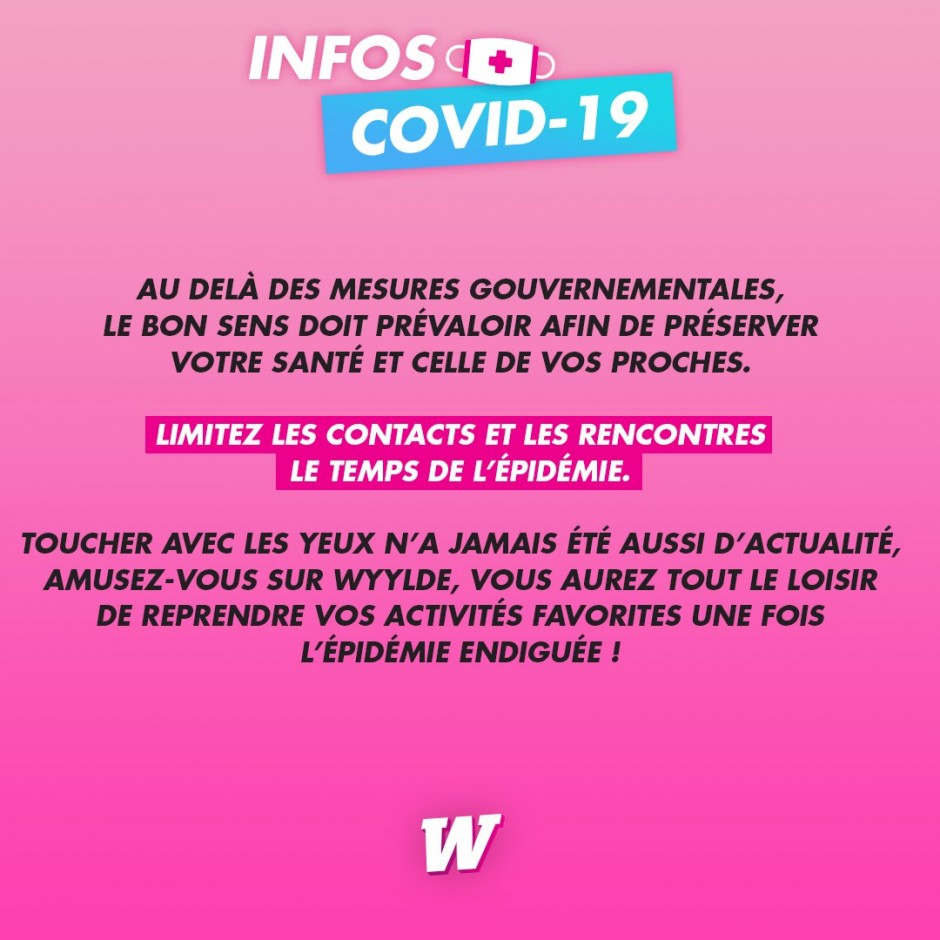 IMPORTANT : INFORMATION COVID-19